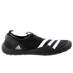 adidas Outdoor Men\'s Climacool Jawpaw Slip-On Water Shoe, Black/White/Silver Metallic, 8 M US