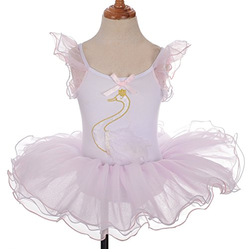 Dressy Daisy Girls' Swan Ballet Tutus Dance Costume Fancy Party Dress Size 2-7