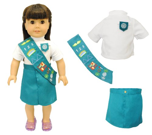 "Pink Butterfly Closet Doll Clothes - Junior Girl Scout Uniform Fits American Girl Dolls, Madame Alexander and Other 18"" Dolls"