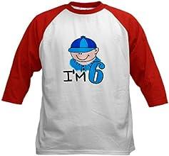 CafePress Kids Baseball Jersey - I39m 6 boy Kids Baseball Jersey