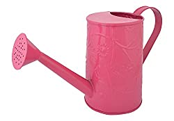 green girgit Design Embossed Watering Can, Metal (Pink, 13 inch x 5 inch x 7 inch)