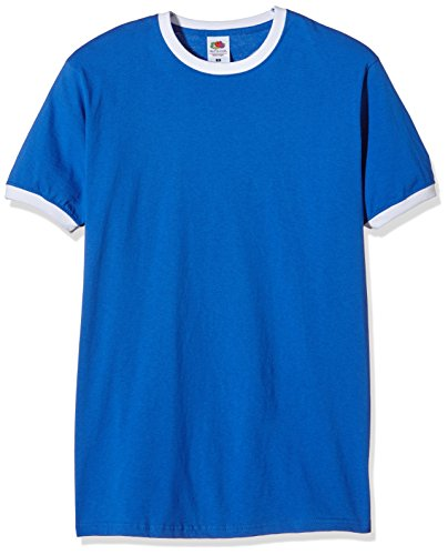 fruit-of-the-loom-ss040m-t-shirt-homme-blue-royal-white-xl