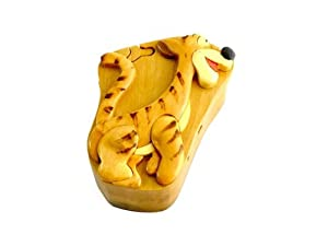 Timber-Treasures Hand-Crafted Wooden Tigger Puzzle Box