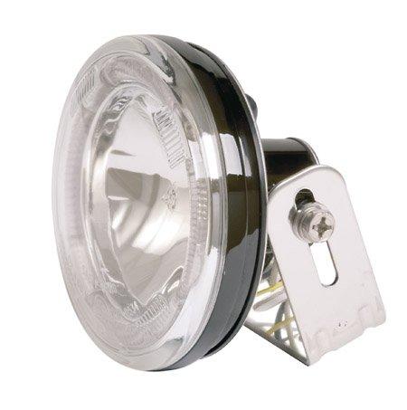 Scheinwerfer Fern- rund mit LED Standlichtring Klarglas 12V H3 55W E-geprüft inkl. Halter