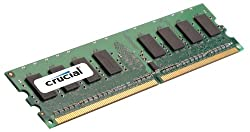 Crucial 2GB Single DDR2 667MHz (PC2-5300) CL5 Unbuffered ECC UDIMM 240-Pin Server Memory CT25672AA667