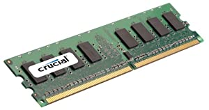 Crucial 2GB Single DDR2 667MHz (PC2-5300) CL5 Unbuffered ECC UDIMM 240-Pin Server Memory CT25672AA667