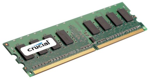Crucial Technology 2 GB 240-pin DIMM DDR2 PC2-8500 Unbuffered NON-ECC DDR2-1066 1.8V Memory (CT25664AA1067)