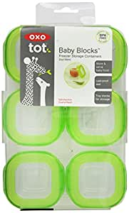 OXO Tot Baby Blocks Freezer Storage Containers - Green