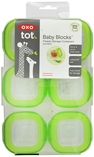 OXO Tot Baby Blocks Freezer Storage Containers u2013 Green  sc 1 st  Every Thing Baby & OXO Tot Baby Blocks Freezer Storage Containers - Green - Every Thing ...