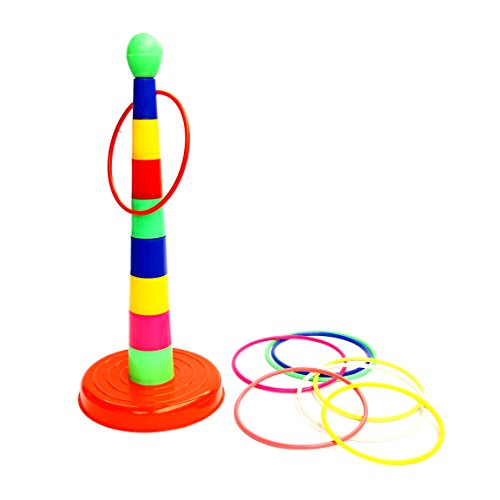 "Dazzling Toys 18"" Colorful Plastic Sport Ring Toss Game Set"