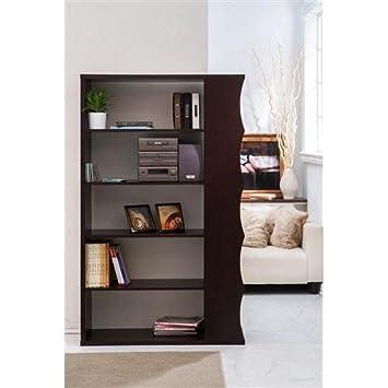 Mwave HFW-1429-4 Gallio Modern Book Case, Walnut, Material: MDF, Wood veneer, Finish: Walnut