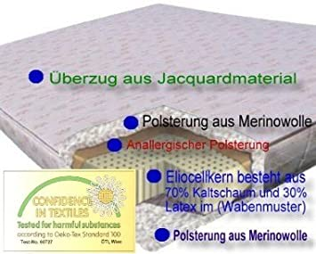 Eliocell matelas en mousse à froid - 100 x 200 cm