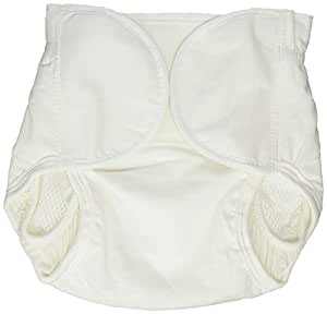 Dappi Diaper Cover, White, Large (Discontinued by Manufacturer)