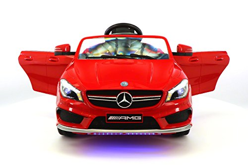2016 Mercedes CLA 45 AMG 12V Power Kids Ride on Toy w/Remote control Leather Seat UV Lights