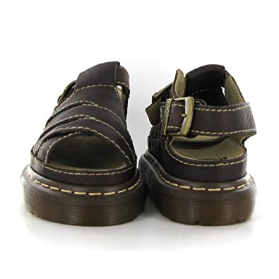 Dr martens dune dark brown leather womens sandals size 4 for Amazon dr martens