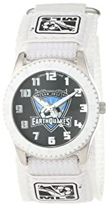 Game Time Mens MLS-ROW-SJ San Jose Earthquakes Rookie White Round Analog Watch by Game Time