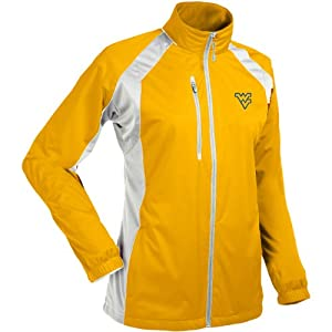 Antigua Ladies West Virginia Mountaineers Rendition Water Resistant Full-Zip Ja by Antigua