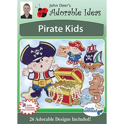Adorable Ideas embroidery designs - Pirate Kids by Adorable Ideas