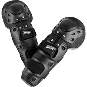 Shift Racing Enforcer Adult Knee/Shin Guard Motocross Motorcycle Body Armor - Black / One Size