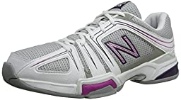 New Balance Women\'s WC1005 Tennis Shoe,Grey/Pink,11 D US