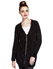 Limited Edition Zip Through Fluffy Cardigan