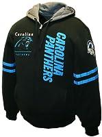 NFL Men's Carolina Panthers Dual Edge Reversible Hoodie Full-Zip Sweatshirt by MTC Marketing, Inc.