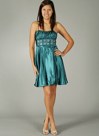 RUCHED RHINESTONE BODICE FORMAL for Bridesmaid Formal Prom