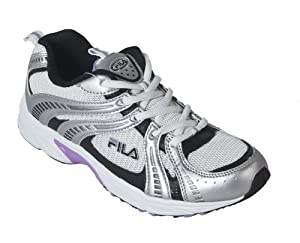 Fila , Chaussures de running pour homme WHITE/SILVER/BLACK/PURPLE - - WHITE/SILVER/BLACK/PURPLE, 4.5 UK