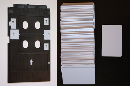 PVC ID Card Tray Starter Set! Blank Platinum ID Cards and PVC Tray for R280 and similar (Pvc Card Tray compare prices)