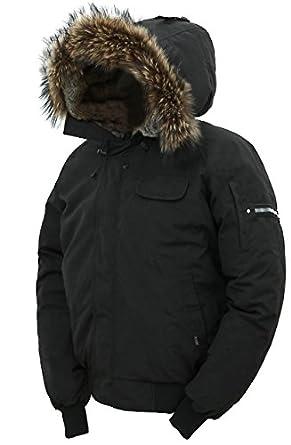 Arctic Men's Winter Jacket, down Coat with Fur Lined Hood