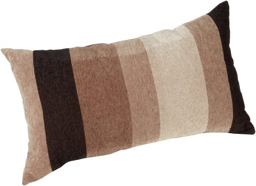 Brentwood Originals Big Stripe 14 by 24-Inch Knife Edge Pillow, Taupe