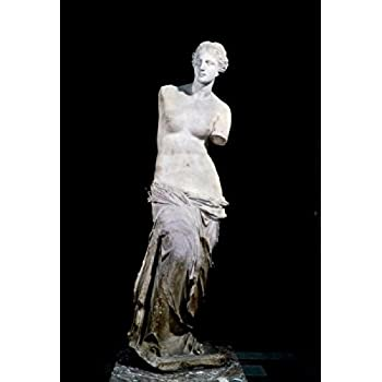 Venus De Milo marble sculpture 150 BC France Paris Musee du Louvre Poster Print (24 x 36)