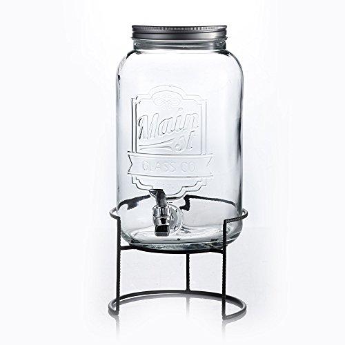 Style Setter Main Street Beverage Dispenser with Stand, Clear (2 Gallon Beverage Dispenser Stand compare prices)
