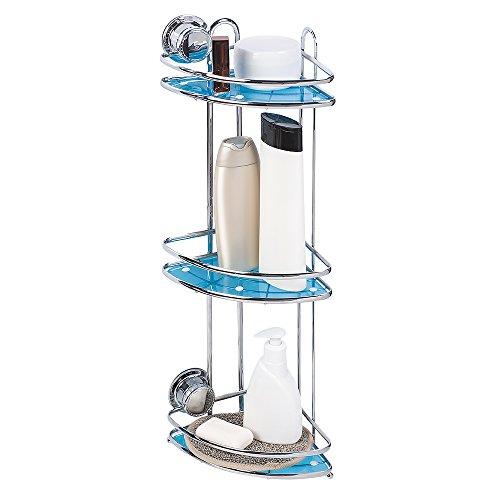 Tatkraft-Vacuum-Screw-HARD-Conrad-Estante-Esquina-de-Pared-Bao-3-Niveles-Acero-Cromado-Incorrodible-con-Ventosas-23X175X585cm
