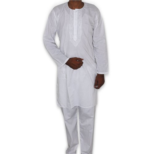 White Kurtas For Mens Mens Cotton White Kurta Pajama