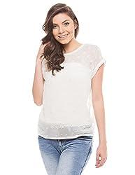 Shuffle Women's Embroidered Shirt (1021506401_Off White_Medium)