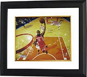James Harden signed Houston Rockets 16X20 Photo Custom Framed- Steiner Hologram by Athlon Sports Collectibles