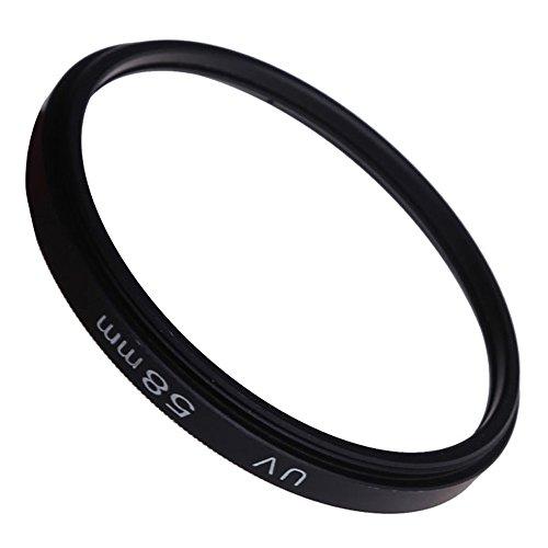 Vktech® Metall 58mm UV Filter Schutzfilter für Canon Nikon Sony Minolta, Olympus, Pentax, Panasonic, Tamron, Sigma und anderen Marken-Kameras mit 58mm Gewinde
