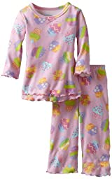 Sara\'s Prints Baby Girls\' Ruffle Top And Pant, Cute Cupcakes, 12 Months