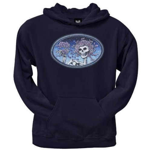 Old Glory Mens Grateful Dead - Skull And Roses Pullover Hoodie - 2X-Large Dark Blue