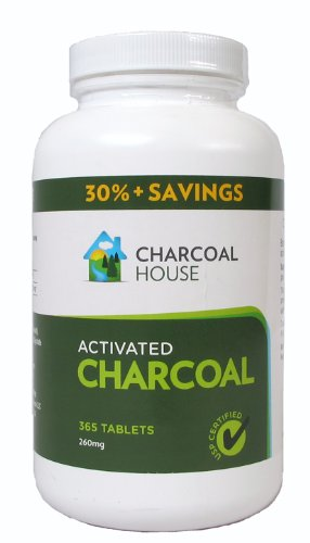 Charcoal tabs for gas