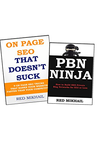 Private Blog Network Building + ON PAGE SEO THAT DOESN'T SUCK BUNDLE