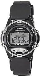 Sonata Digital Black Dial Mens Watch - 77046PP03J