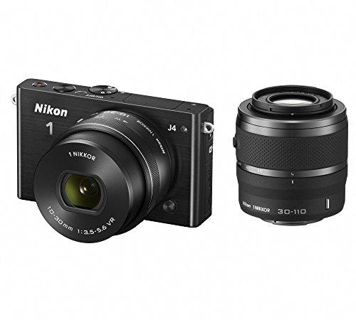 Nikon ミラーレス一眼 Nikon1 J4 ダブルズームキット ブラック J4WZBK
