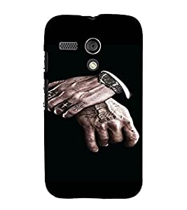 PrintVisa Man Hands Design 3D Hard Polycarbonate Designer Back Case Cover for Motorola Moto G