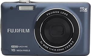 Fujifilm JX665 Digital Camera - 16 Megapixel, 5x Zoom, HD Video - Indigo Blue (Certified Refurbished)