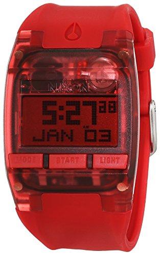 nixon-a408191-00-montre-femme-quartz-digitale-bracelet-silicone-rouge