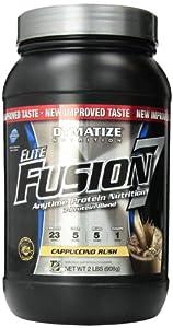 Dymatize Nutrition Elite Fusion-7 Drink, Cappuccina, 2 Pound