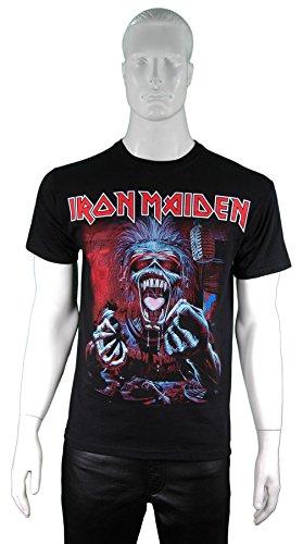 Maglietta ufficiale degli IRON MAIDEN Eddie un vero DEAD ONE, tutte le misure Nero  nero