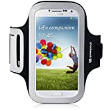 Samsung Galaxy S4 Shocksock Reflective Sports Armband (Black)
